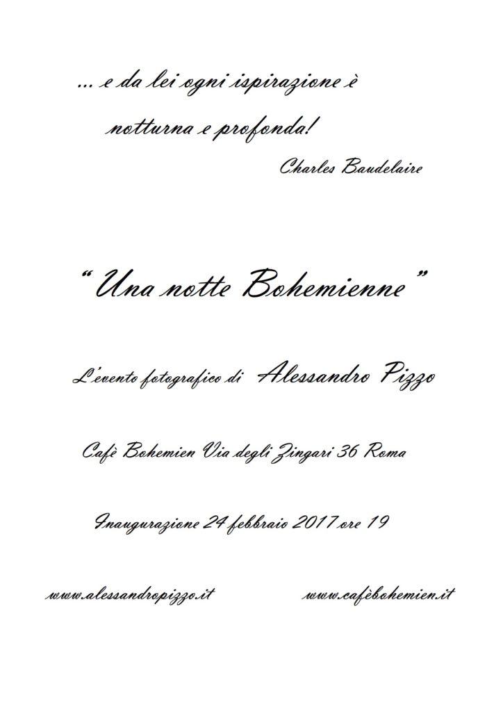 Invito Una notte Bohemienne